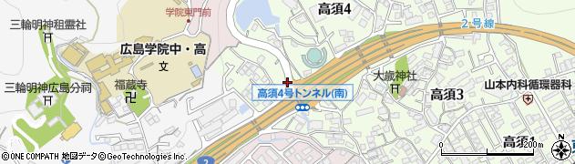 高須4号トンネル北周辺の地図