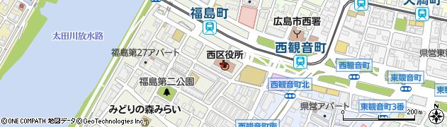 広島県広島市西区周辺の地図