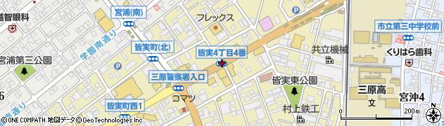 皆実4‐4周辺の地図