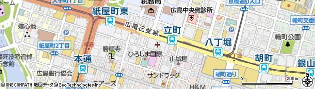広島県広島市中区立町2-25周辺の地図