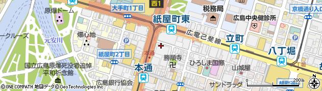 広島県広島市中区紙屋町周辺の地図