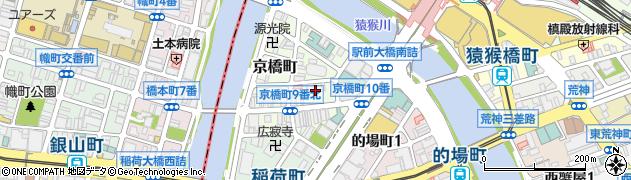 広島県広島市南区京橋町周辺の地図