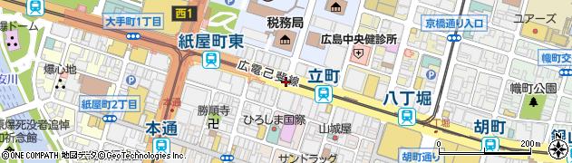 中央警察署入口周辺の地図