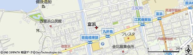 広島県尾道市向島町(富浜)周辺の地図