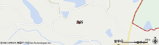 兵庫県洲本市安乎町(北谷)周辺の地図