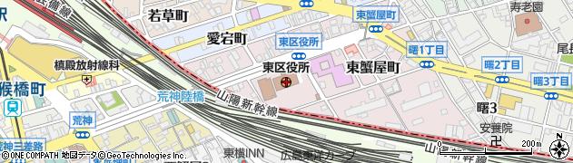 広島県広島市東区周辺の地図