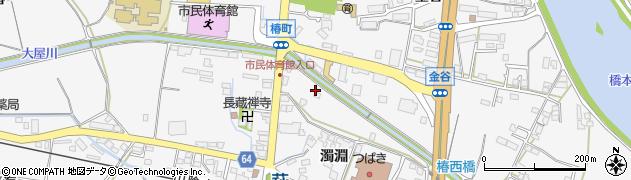 山口県萩市椿(濁淵)周辺の地図