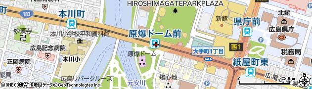 広島県広島市中区周辺の地図