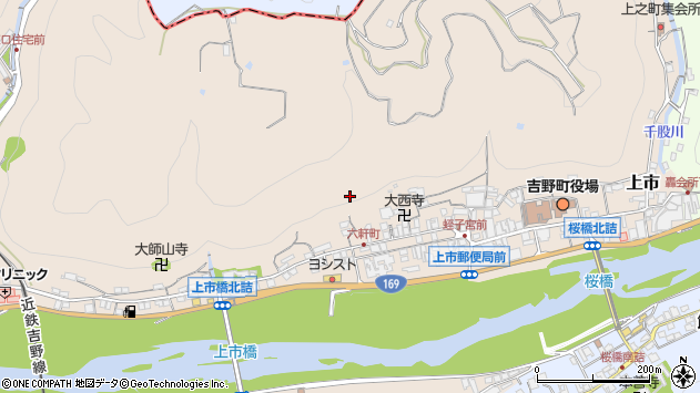 〒639-3111 奈良県吉野郡吉野町上市の地図