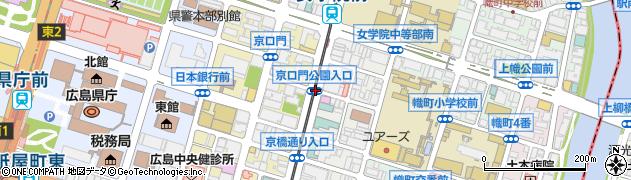 京口門公園入口周辺の地図