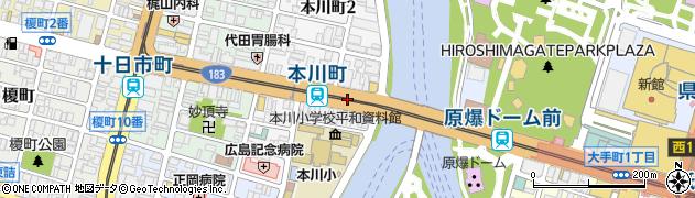 一般国道183号周辺の地図