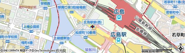 駅前西周辺の地図