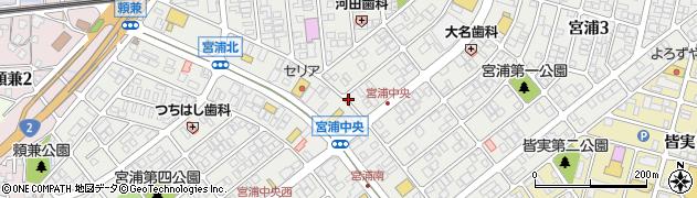 広島県三原市宮浦周辺の地図