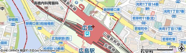 広島県広島市南区周辺の地図