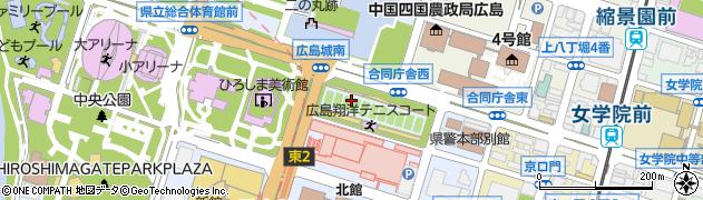 広島県広島市中区基町周辺の地図