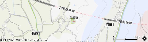 耽源寺周辺の地図
