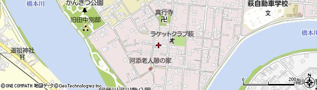 山口県萩市河添周辺の地図