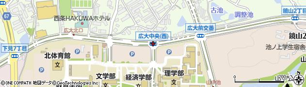 広島大学中央周辺の地図