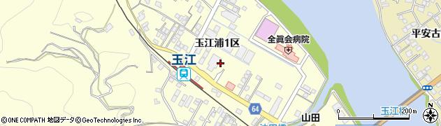 山口県萩市山田(玉江浦1区)周辺の地図