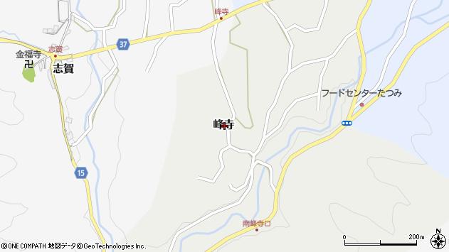 〒639-3104 奈良県吉野郡吉野町峰寺の地図