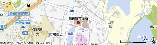 大阪府泉佐野市周辺の地図