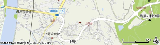 山口県萩市椿東(上野)周辺の地図