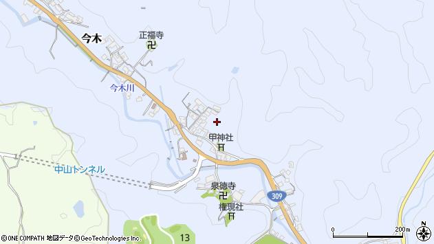 〒638-0841 奈良県吉野郡大淀町今木の地図