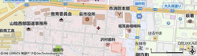 山口県萩市江向(3区)周辺の地図