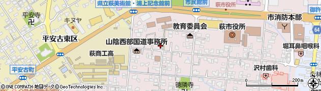 山口県萩市江向(4区)周辺の地図