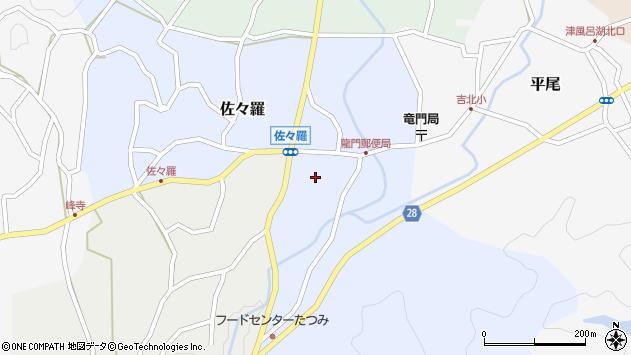 〒639-3107 奈良県吉野郡吉野町佐々羅の地図