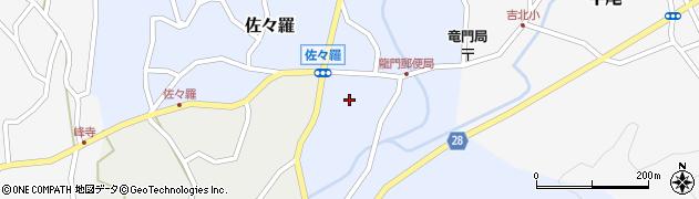 奈良県吉野町(吉野郡)佐々羅周辺の地図