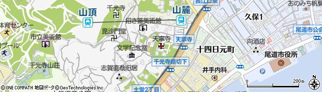 天寧寺周辺の地図
