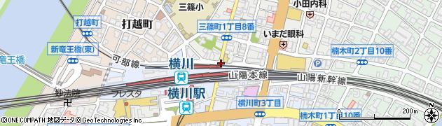 横川町3‐1周辺の地図