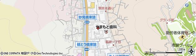 広島県尾道市栗原西周辺の地図