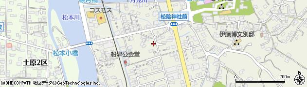 山口県萩市椿東(船津)周辺の地図