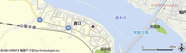 山口県萩市山田(倉江)周辺の地図