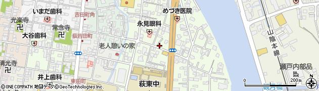 山口県萩市土原(3区)周辺の地図