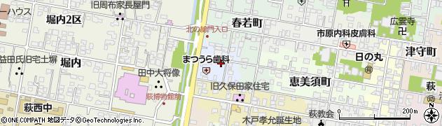 山口県萩市古魚店町周辺の地図