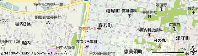 山口県萩市春若町周辺の地図