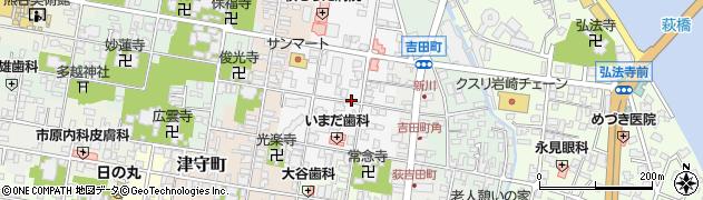 山口県萩市今古萩町周辺の地図
