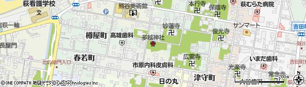多越神社周辺の地図