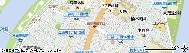 三篠町3周辺の地図