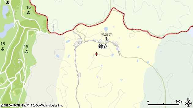 〒638-0843 奈良県吉野郡大淀町鉾立の地図