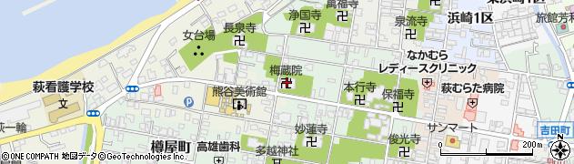 梅蔵院周辺の地図