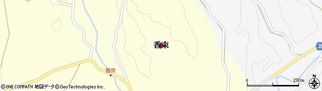 奈良県吉野町(吉野郡)香束周辺の地図