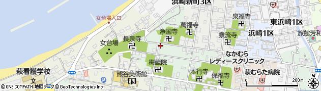 山口県萩市北古萩町周辺の地図