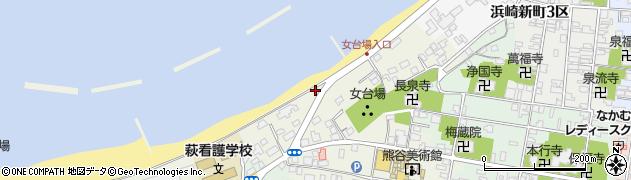 山口県萩市今魚店町周辺の地図