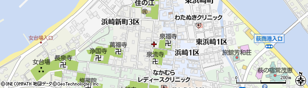山口県萩市浜崎新町(浜崎新町1区)周辺の地図