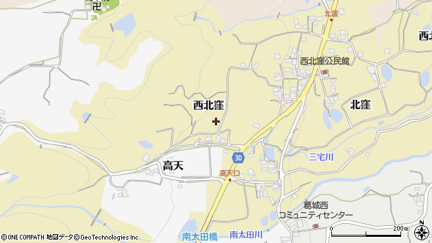 〒639-2335 奈良県御所市西北窪の地図