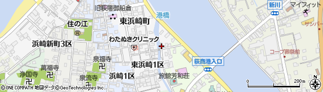 山口県萩市東浜崎町(東浜崎2区)周辺の地図